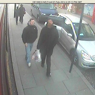 CCTV picture shows Dean Mayley (left), walking in Greenford shortly before he was murdered