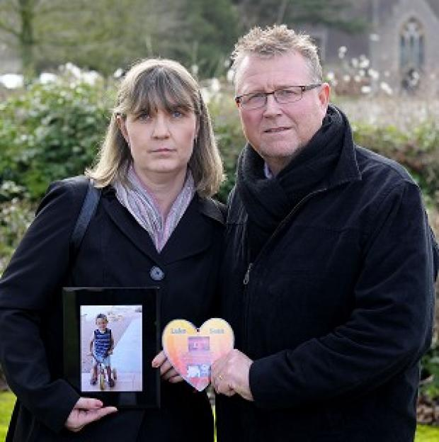 Andover Advertiser: Steve and Yolanda Turner, whose son Sean died from a brain haemorrhage