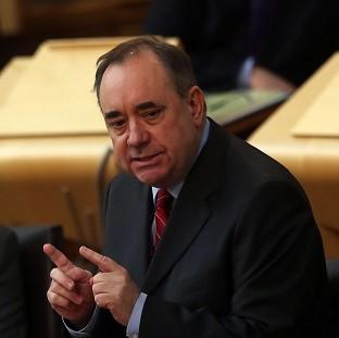 Andover Advertiser: Scottish First Minister Alex Salmond has hit out at Chancellor George Osborne for his comments about the pound under independence