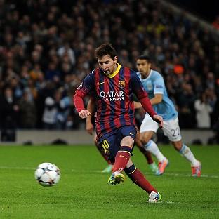 Lionel Messi opens the scoring from the penalty spot