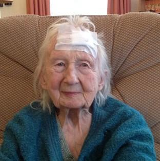 Connie Hallford, who was badly beaten when three masked men burst into her home (Suffolk Constabulary/PA)