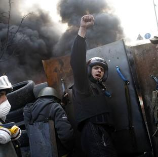 Andover Advertiser: Anti-government protests continue in Kiev, Ukraine (AP)