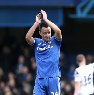 John Terry celebrates after scoring Chelsea's winner