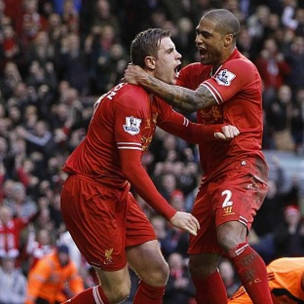 Andover Advertiser: Jordan Henderson celebrates scoring the winning goal