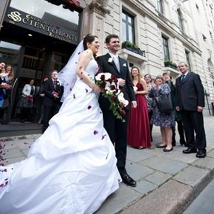 Andover Advertiser: Louisa Hodkin and Alessandro Calcioli have become the first couple in Britain to tie the knot at the Church of Scientology