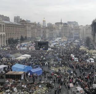 Andover Advertiser: Kiev's Independence Square has been the epicentre of Ukraine's recent unrest (AP)