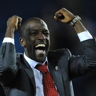 Chris Powell celebrates the victory