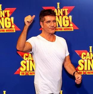 Simon Cowell at the launch of the X Factor Musical 'I Cant sing' which has been hit by a technical glitch
