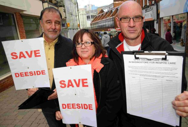 Andover Advertiser: Campaigners Terry Tuxford, Lynn Rich and Peter Rich gather signatures