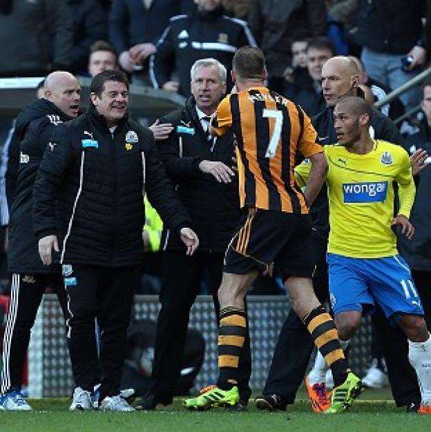 Andover Advertiser: Newcastle United's manager Alan Pardew was sent to the stands after a confrontation with David Meyler