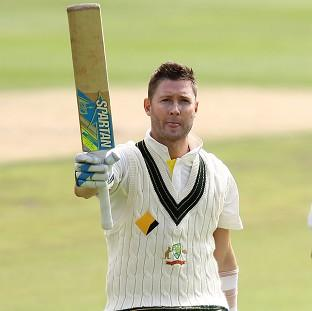 Michael Clarke fought hard to register his 27th Test ton (AP)