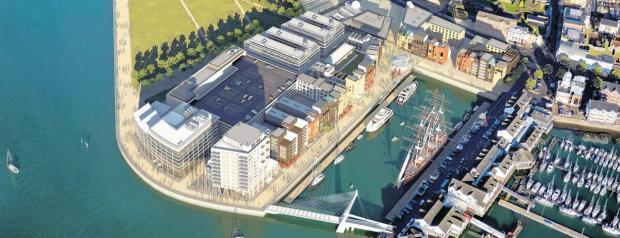 Andover Advertiser: An artist's impression of the proposed development of Royal Pier.