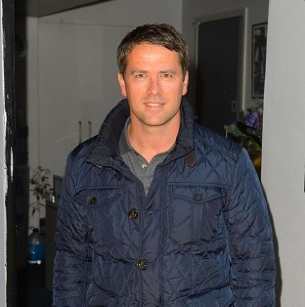 Andover Advertiser: Michael Owen arriving at Sarm Studios for filming of the video.