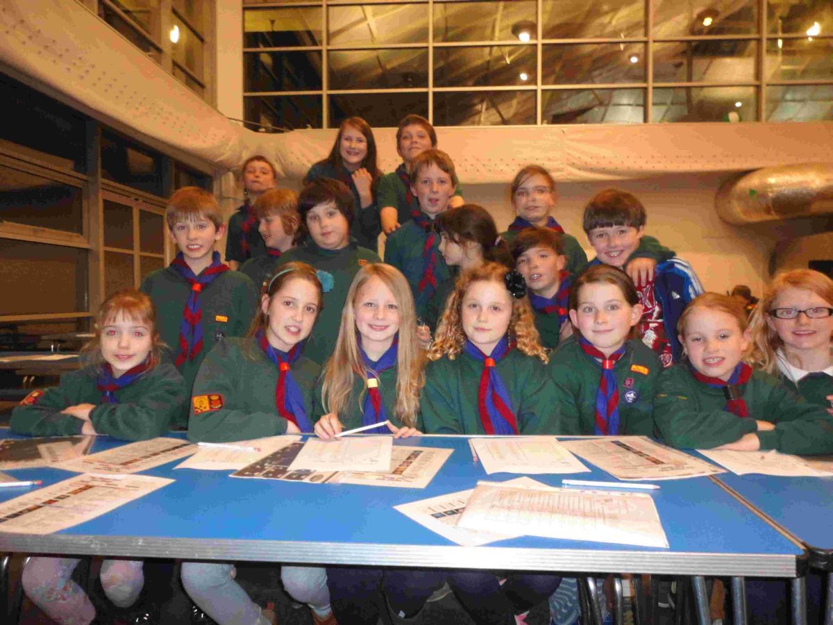 Children explore the stars at Winchester Science Centre