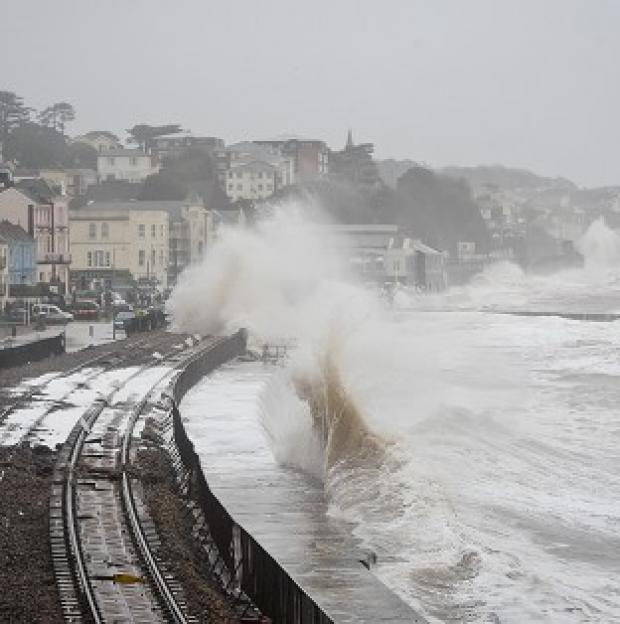 Andover Advertiser: Damage to the railway in Dawlish, Devon, reduced train punctuality