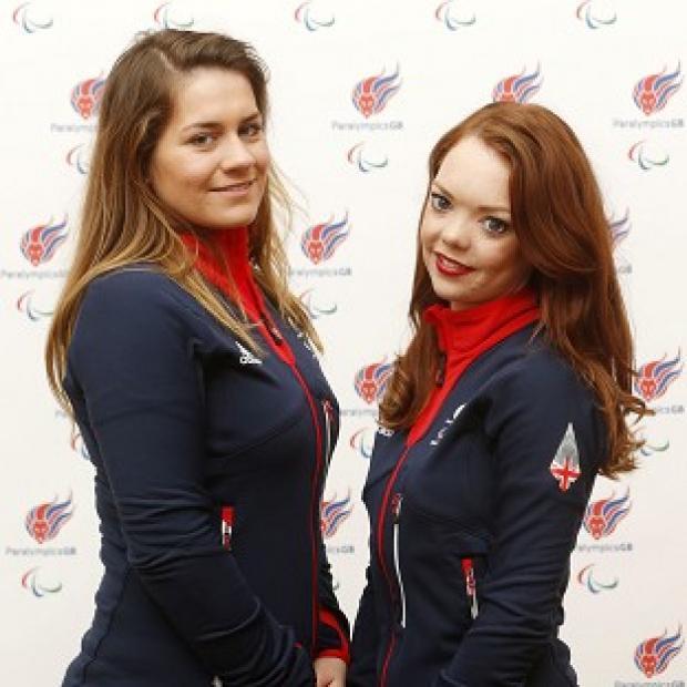 Andover Advertiser: Jade Etherington, right, and guide Caroline Powell, left, were left disappointed by slalom silver at the Winter Paralympics.