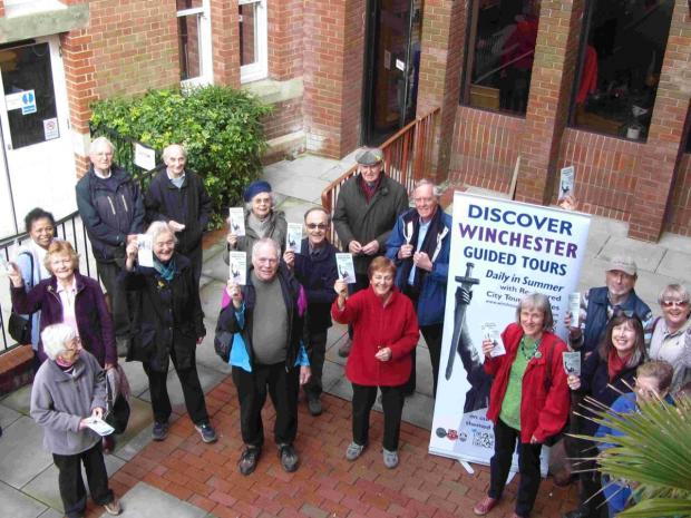 This group about to set off on a health walk supported the launch of the leaflet