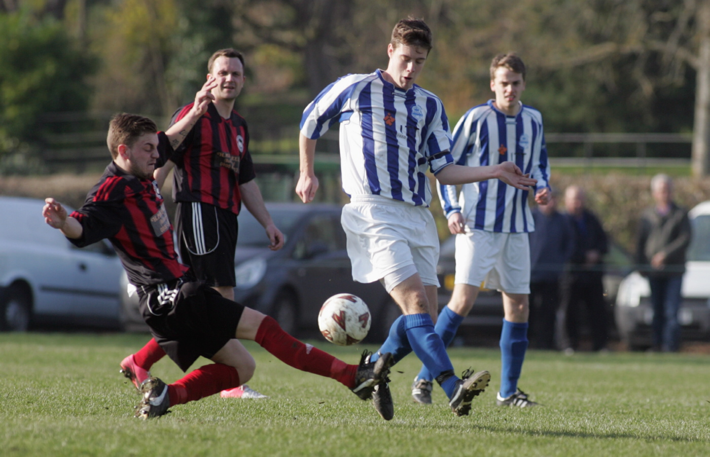 Action from Overton's win over Paulgrove on Saturday