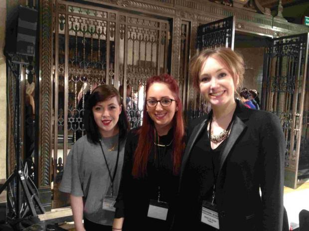 Francesca Dugga, Amy Mitchell and Lucy Rogers were able to work front of house with Fashion Scout
