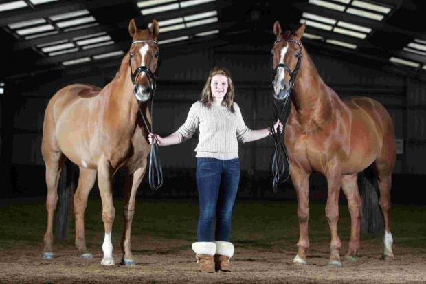 Teenager in international dressage event
