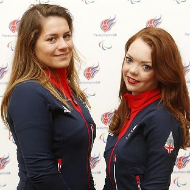 Andover Advertiser: Jade Etherington, right, and guide Caroline Powell claimed another silver in Sochi