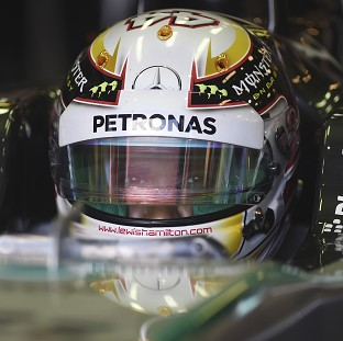 Lewis Hamilton claimed pole for Sunday's Australian GP (AP)