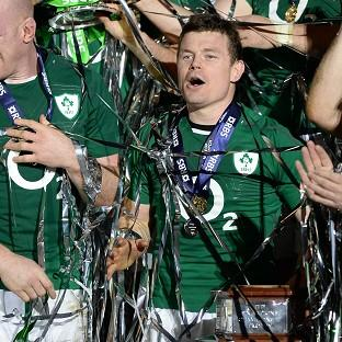 Brian O'Driscoll won his second Six Nations title in his final appearance for his country