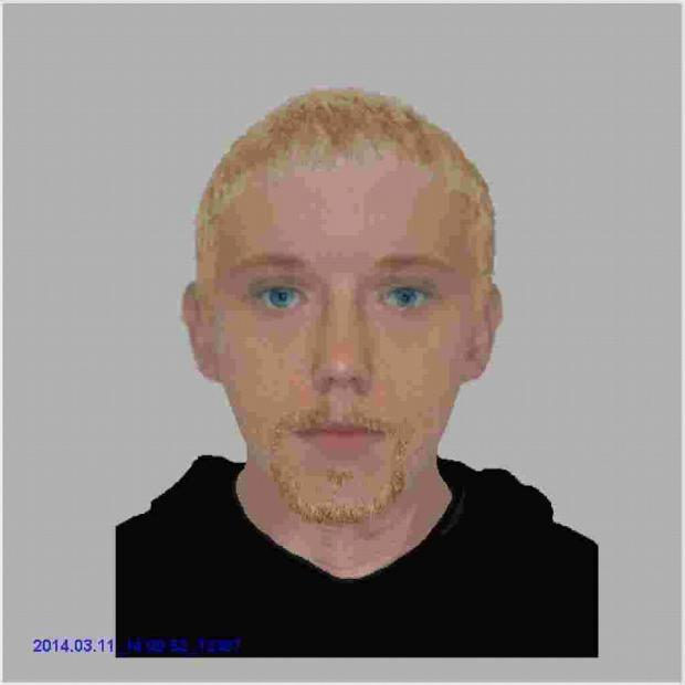 Andover Advertiser: The man is described as white, in his mid 20's, 5ft 7ins tall, of a thin build with slightly wavy blonde/brown short hair.