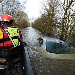 The Somerset Levels were hit by devastating floods.