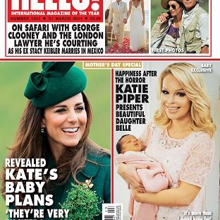 Andover Advertiser: Katie Piper shows off her baby in Hello magazine