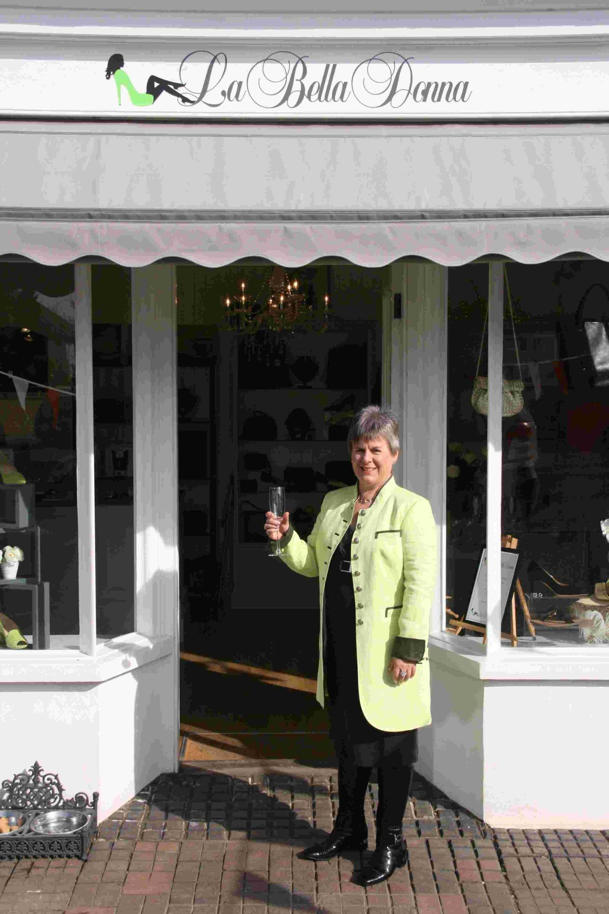 Jane Young (pictured) officially opened the new store with business partner Sophie Walters