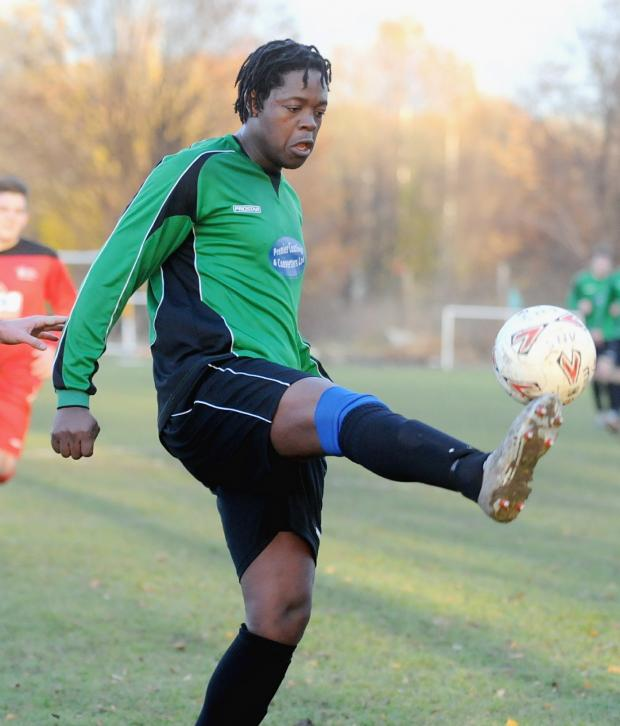 Andover Advertiser: Prince Xhamela scored twice for New Street at Team Solent on Saturday