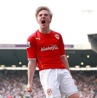 Cardiff City's Mats Daehli celebrates scoring his last-gasp equaliser