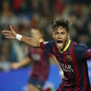 Neymar equalised for Barcelona against Atletico Madrid (AP)