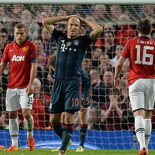 Arjen Robben was left frustrated by Manchester United's tactics