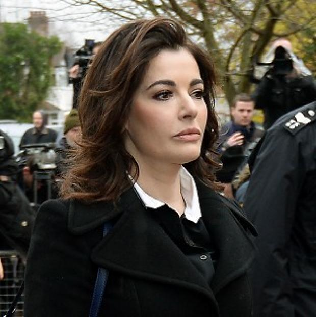 Andover Advertiser: Nigella Lawson arriving gave evidence in the case against two of her former personal assistants