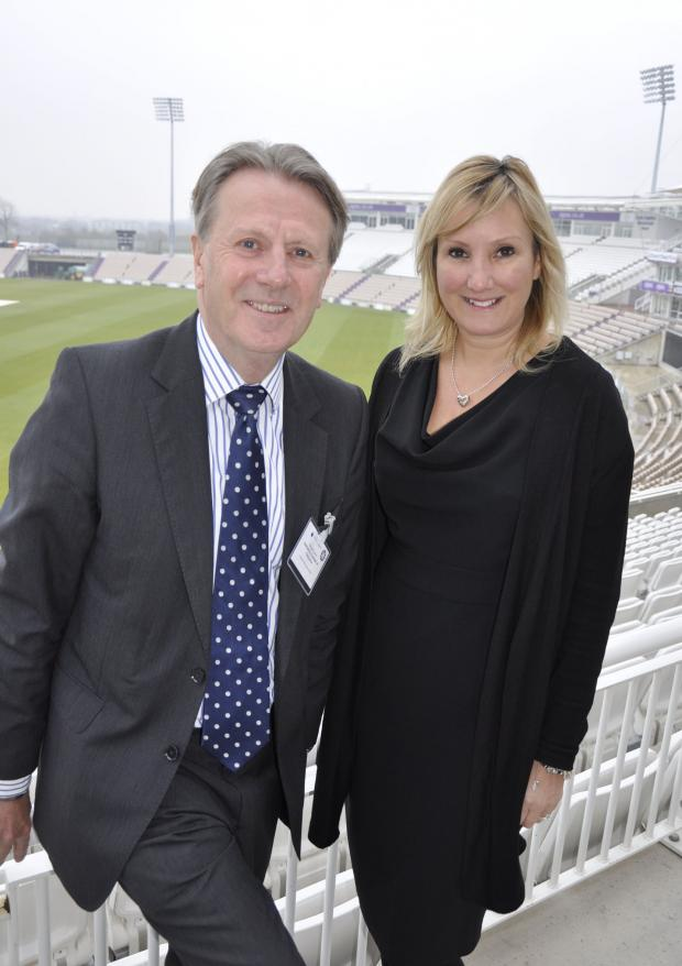 Andover Advertiser: Hampshire Chamber chief executive Stewart Dunn and Gosport MP Caroline Dinenage