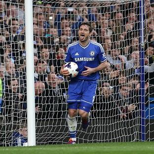 Frank Lampard netted Chelsea's second in their 3-0 win over Stoke