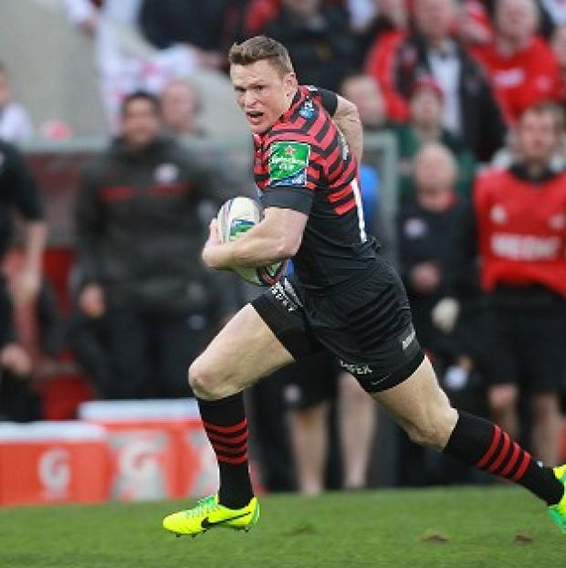 Andover Advertiser: Chris Ashton went over for a pair of tries for Saracens