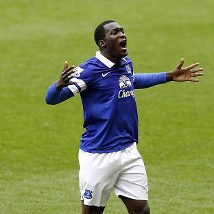 Everton's Romelu Lukaku scored his side's second goal