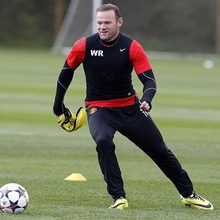 Wayne Rooney injured his toe in the first leg of the Champions League quarter-final
