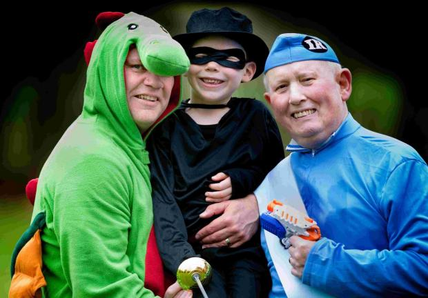 Dads and lads dress up for charity walk