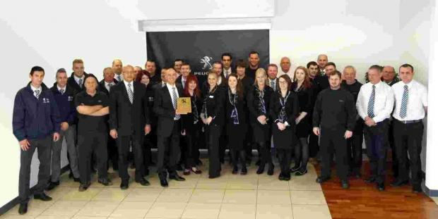 Andover Advertiser: City Peugeot dealership wins the Guild of Gold Award