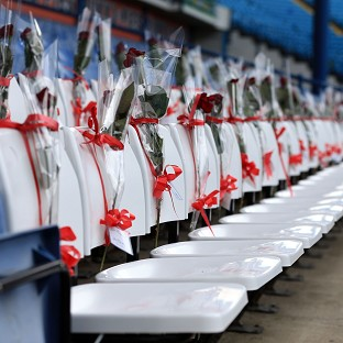 Sheffield Wednesday have replaced 96 blue seats with white seats bearing red roses at Hillsborough