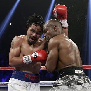 Manny Pacquiao, left, avenged his defeat by Timothy Bradley (AP)