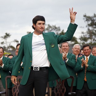 Bubba Watson played down his achievement of winning two green jackets in three years (AP)