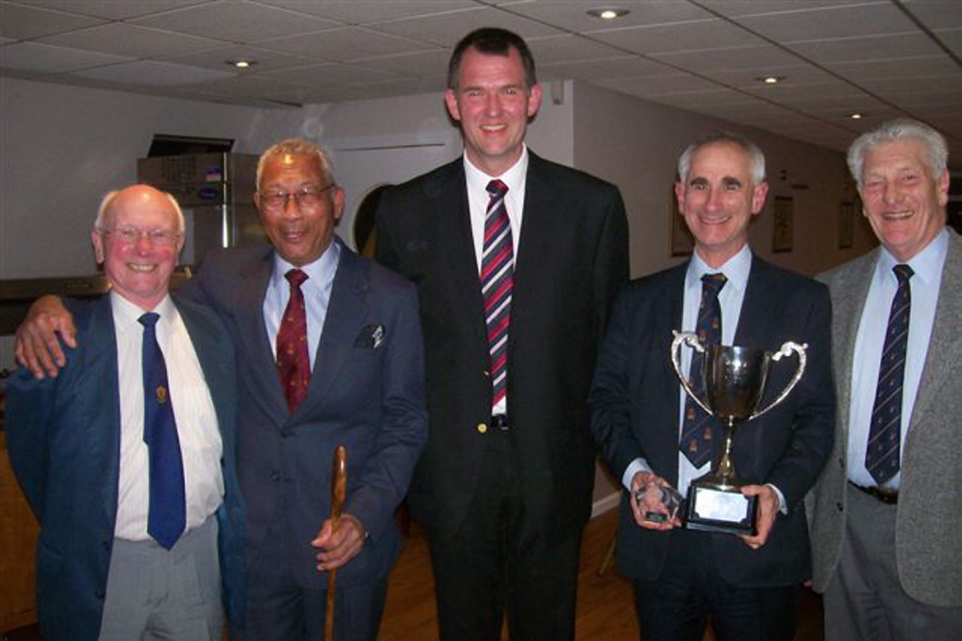 Pictured are David Benwell, Ken Sangster, Sean Canham, Nick Hopson-Hill and Cliff Tucker.