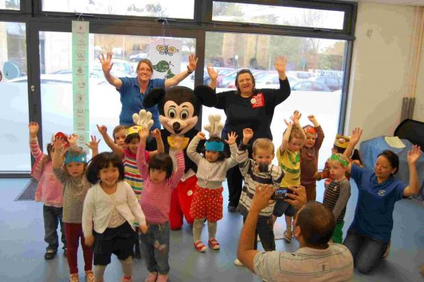 Harestock Pre-school children celebrated with an Easter coffee morning