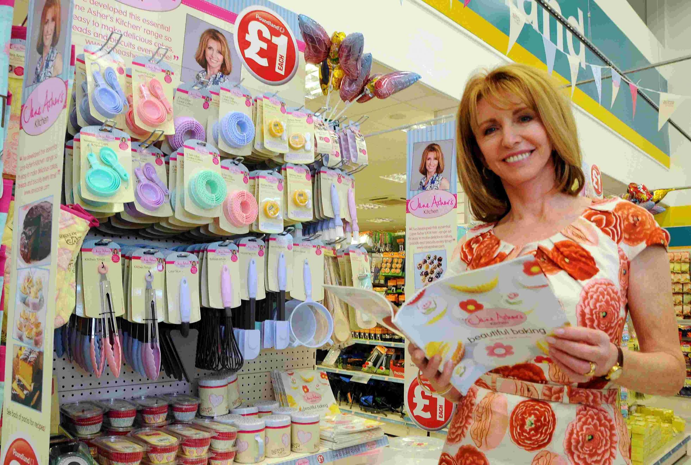 Jane Asher launched her bakeware range at Poundland in Chineham