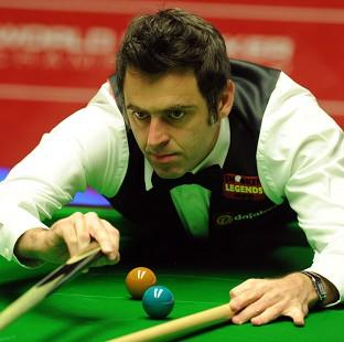 Ronnie O'Sullivan, pictured, has opened up a five-frame lead ov